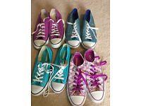 CONVERSE - 4 pair size 5