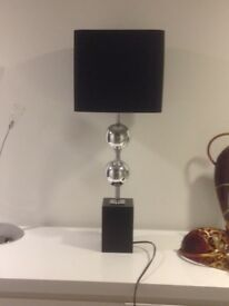 Black and Chrome Lamp