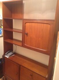 Retro furniture , 1970's wall unit, Shelves and drawers