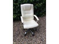 Cream swivel office chair