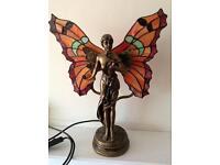 Bronze effect butterfly wings lamp.