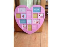 Pink Heart Photo Frame- With Numerous Photo Slots