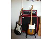 Fender Telecaster - 60th add, Whitehorse tube guitar amp.