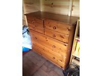 Vintage Large Heavy Pine Chest of Drawers for renovation Collection Coulsdon near Croydon