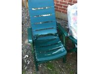 garden reclinging chairs new with cushions