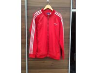 Adidas red zip front top size XL