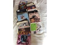 Collection of single vinyl records