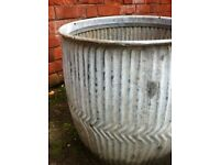 Antique Salvaged Victorian Water Butt as Planter Container / Can Deliver