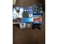Ps4 bundle with 2 games, turtle beach headset, 2 controllers