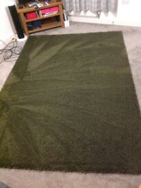 XXL Next shaggy green rug