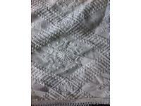 Extra large Laura Ashley white bedspread