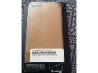 Luxury beige leather iPhone 6 Plus Cover