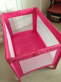 Red kite sleep tight travel cot Pink
