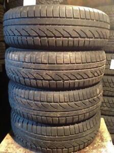 4 pneus d'hiver 195/65 r15 continental conti winter contact.  130$