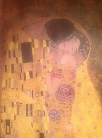 Gustav Klimt fabric wall picture 90cm X 200cm