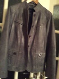 Women's grey leather jacket. Size 12
