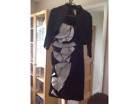 Debut Dress & Jacket Size 10 Black & white