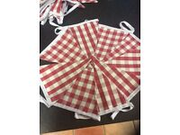 Only 1 set left / fabric bunting double sided hand made