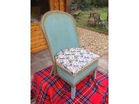 "Lloyd Loom style ""Spinney"" vintage nursing chair in original condition"