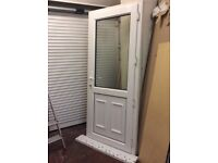 UPVC door with frame, ex, cond, could deliver