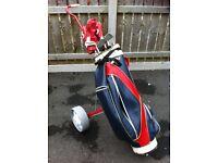 Golf Clubs, Bag & Trolly £50