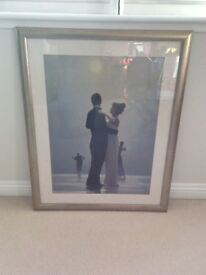 """Jack Vettriano """"Dance me to the end of love"""" framed print"""