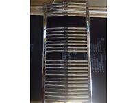 Chrome Curved Heated Towel Rail Radiator