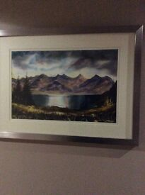 THE 5 SISTERS OF KINTAIL WATERCOLOUR