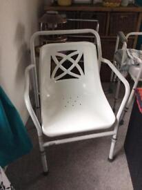 Disability adjustable shower chair