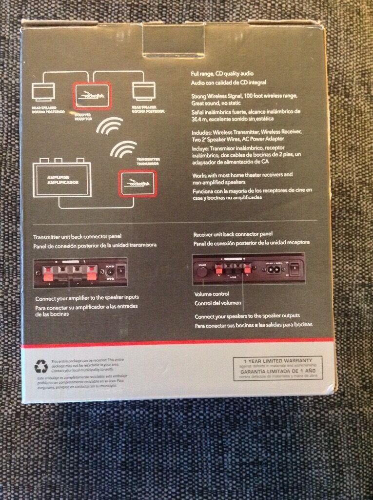 Rocketfish 2 4GHz Wireless Sender and Wireless Receiver, transmits high  quality audio to speakers   in Bramford, Suffolk   Gumtree