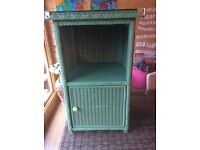 Lloyd loom cabinet + similar chair