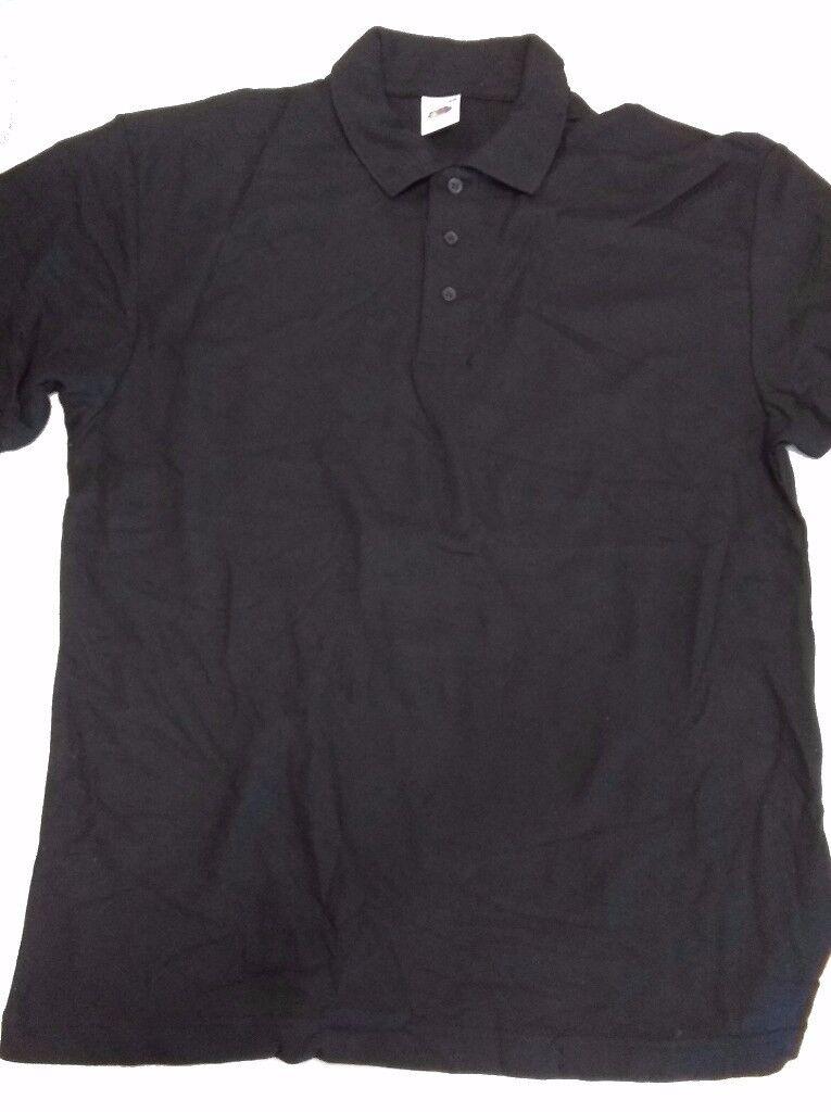 Black Poloshirts S M L - Fruit of the Loom / Kustom Kit