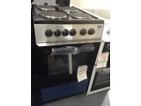 Beko 50cm single cavity electric cooker. 4 plate hob. £195. New/graded 12 month Gtee