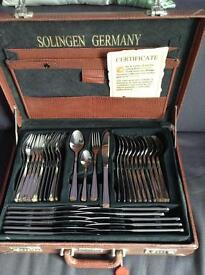 72 piece Solingen 18/10 cutlery set.