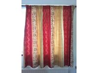 Two pairs of lovely pencil pleat matching curtains