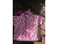 Cute waterproof floral coat by Jojo Mamam Bebe