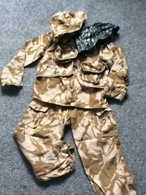 Army dress up outfit age 5-8