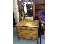 Antiques Oak Dressing Chest of Drawers
