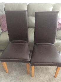 M&S 4 x Dining table chairs