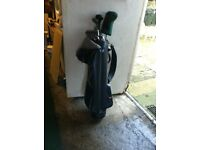 Set of Golf Clubs with a Bag
