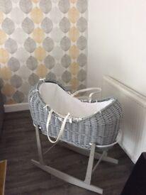 Beautiful grey crib and stand