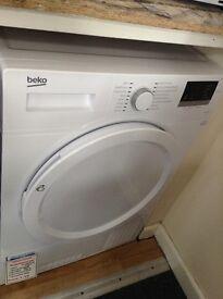 Beko condensing dryer. White RRP £329 12 month Gtee