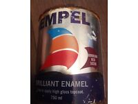 Hempel brilliant enamel 750ml four various colours currently selling at £27
