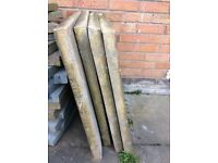 4 Large heavy Buff/sand colour slabs £25 the lot