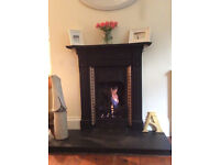 Cast Iron Victorian Fireplace Surround with Hearth