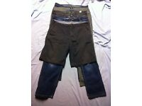 mens trousers, jeans and shorts size w38