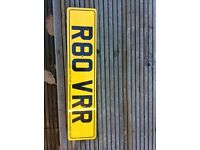 Private plate on Retention ready to go