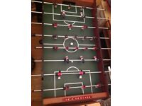 Portable folding football games table