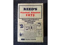 Reed's Nautical Almanac and tide tables 1975