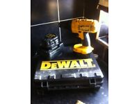 Dewalt cordless drill two battery's one charger in carry case14.volts type 10